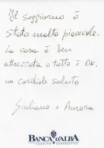 Casa Vacanze Fusina (Dogliani - Langhe) - Recensione Giuliano & Aurora