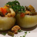 Casa Fusina (Dogliani) – Risotrante Farinel: cipolle ripiene con antipasto piemontese