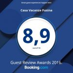 Vinto il Guest Review Award Booking.com 2016