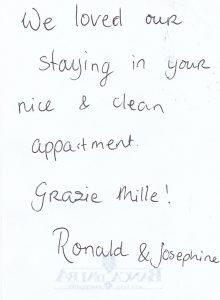 Casa Vacanze Fusina (Dogliani) - Recensione Ronlad & Josphine