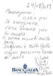 Casa Vacanze Fusina (Dogliani) - Recensione Silvana, Silvia, Daniel, Bruno