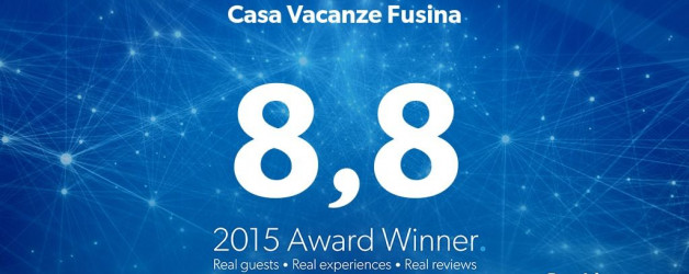 Vinto il Guest Review Award Booking.com 2015
